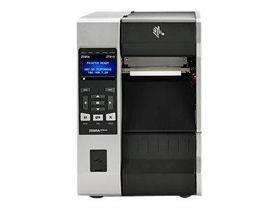 Zebra ZT610, 8 Punkte/mm (203dpi), Peeler, Rewind, Disp. (Farbe), RTC, ZPL, ZPLII, USB, RS232, BT, Ethernet, ZT61042-T2E0200Z