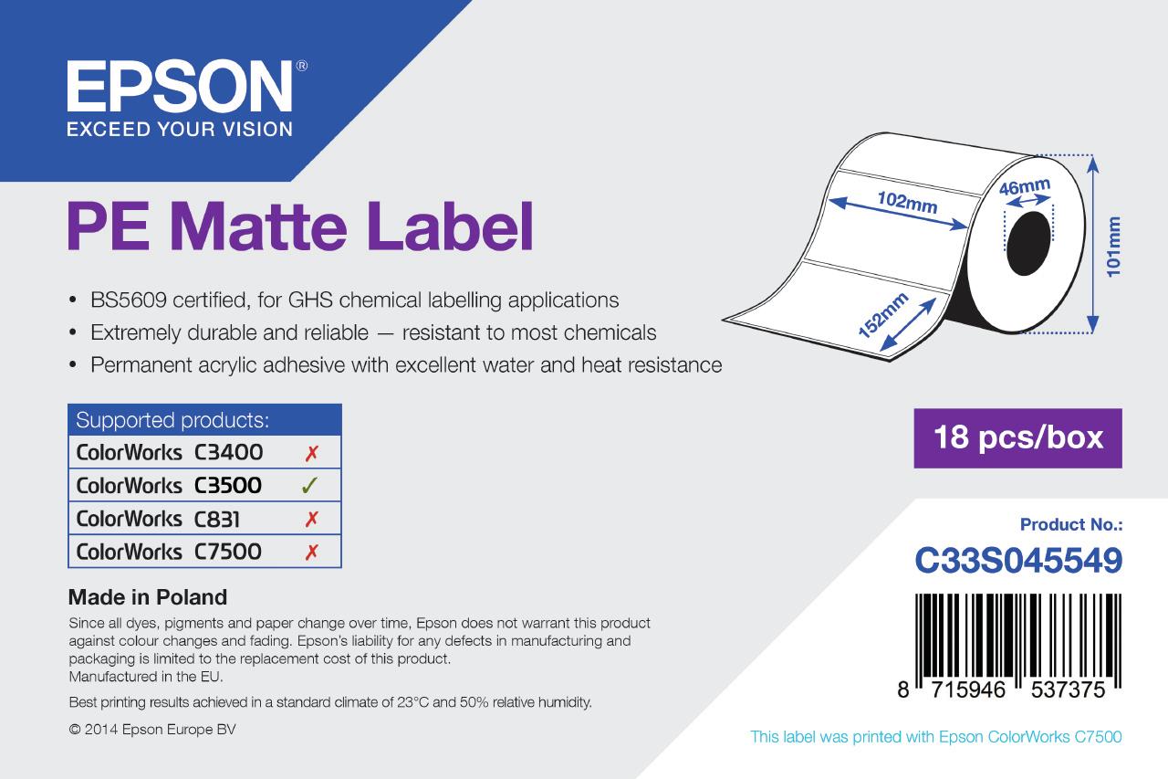 Epson Etikettenrolle, Kunststoff, 102x152mm, C33S045549