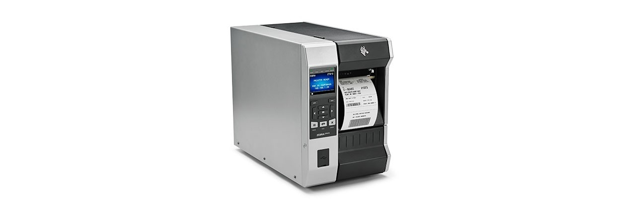 Zebra ZT610, 12 Punkte/mm (300dpi), Cutter, Disp., RTC, ZPL, ZPLII, USB, RS232, BT, Ethernet, ZT61043-T1E0100Z
