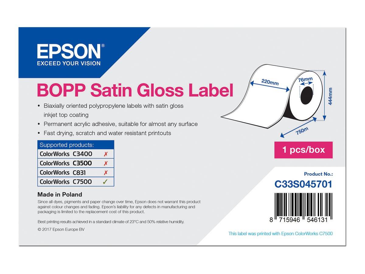 Epson Etikettenrolle, Kunststoff, 220mm, C33S045701