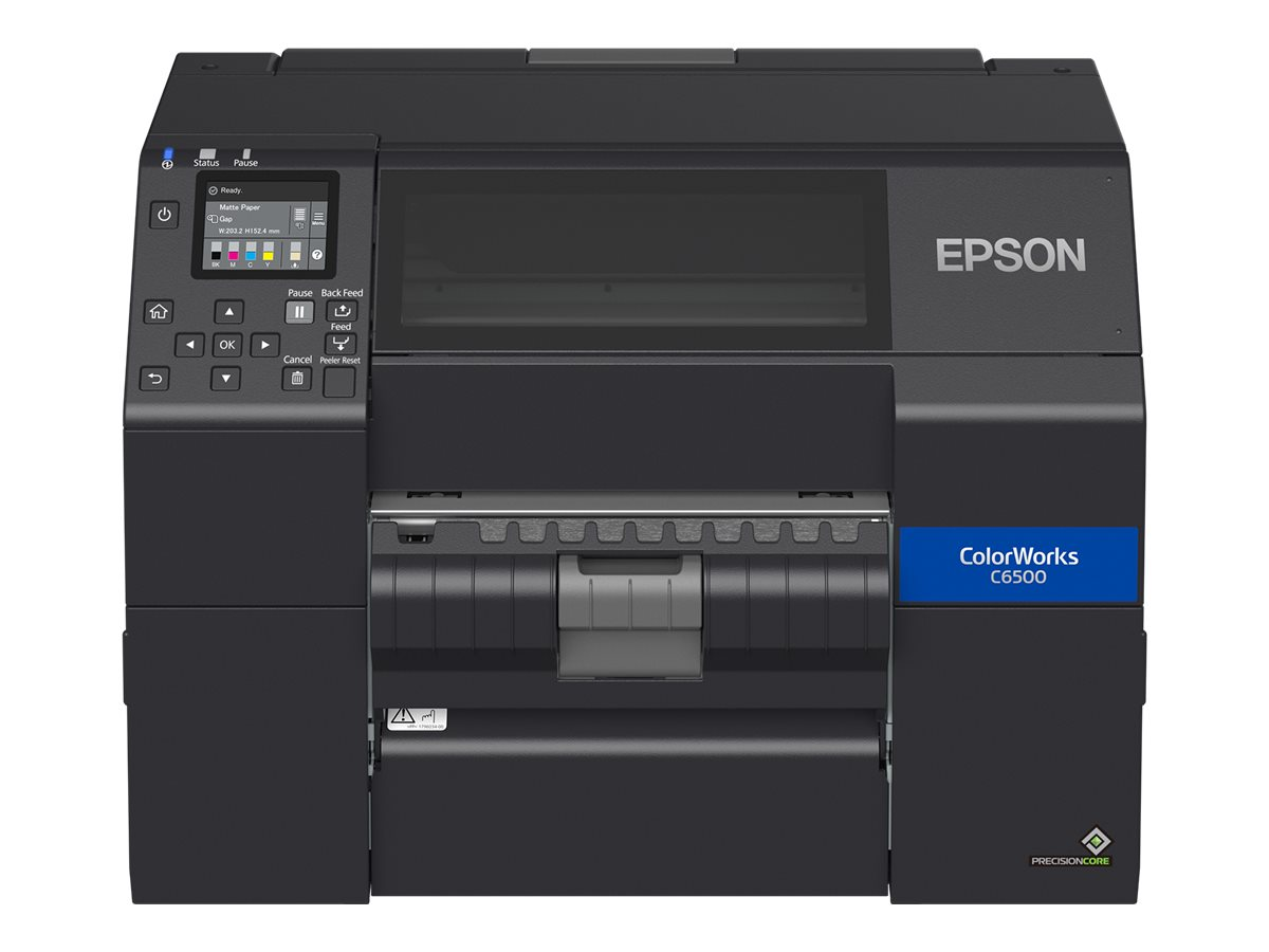 Epson ColorWorks CW-C6500Pe, Peeler, Disp., USB, Ethernet, schwarz, C31CH77202