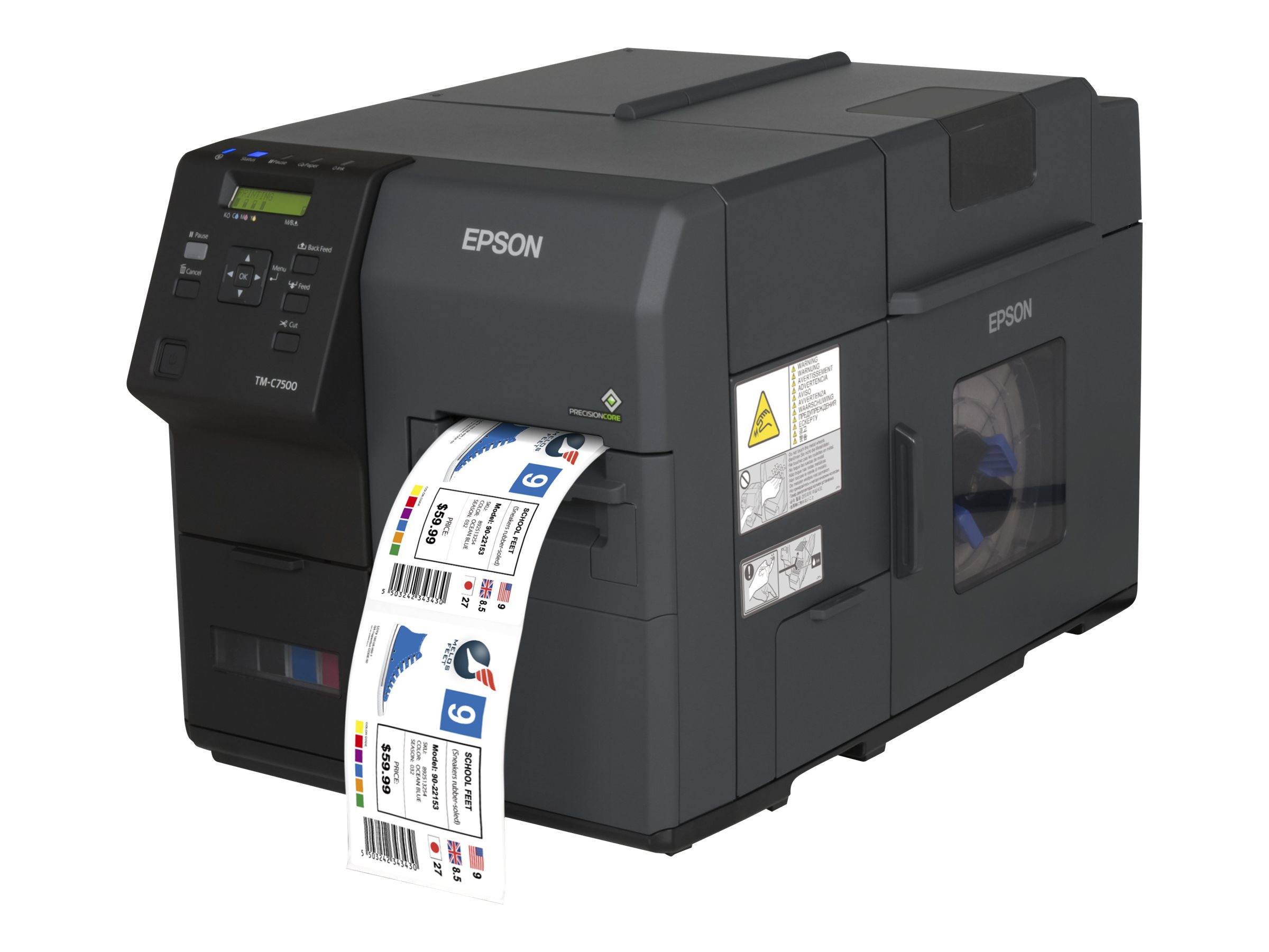 Epson ColorWorks C7500, Cutter, Disp., USB, Ethernet, schwarz, C31CD84012