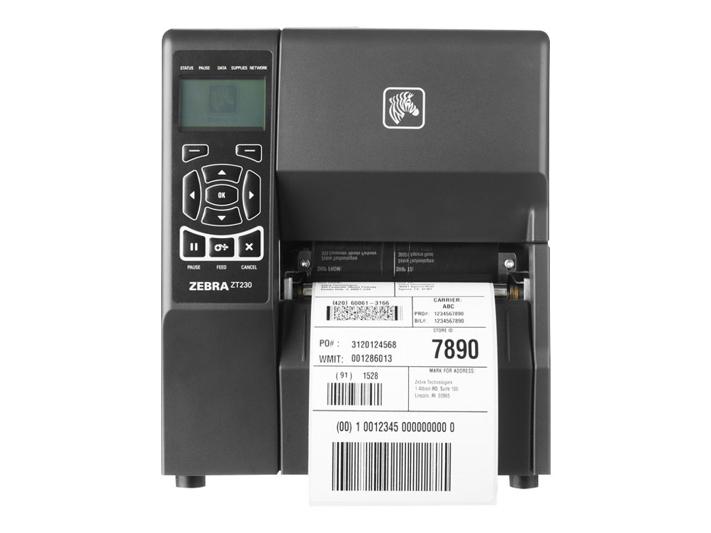 Zebra ZT230, 8 Punkte/mm (203dpi), Display, EPL, ZPL, ZPLII, USB, RS232, ZT23042-D0E000FZ