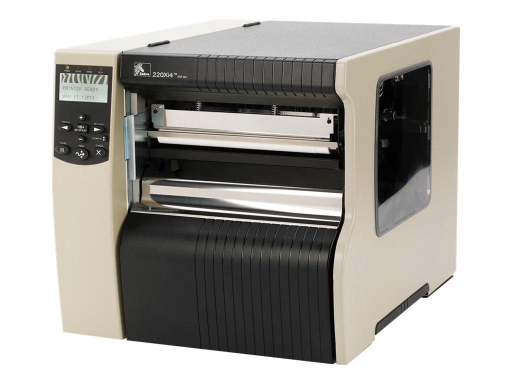 Zebra 220Xi4, 8 Punkte/mm (203dpi), Cutter, RTC, ZPLII, Printserver (Ethernet, WLAN), 220-8KE-00103