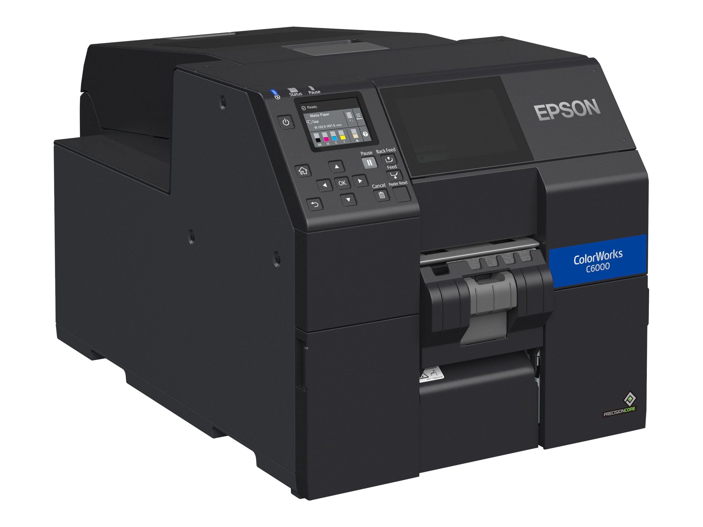 Epson ColorWorks CW-C6000Ae, Cutter, Disp., USB, Ethernet, schwarz, C31CH76102