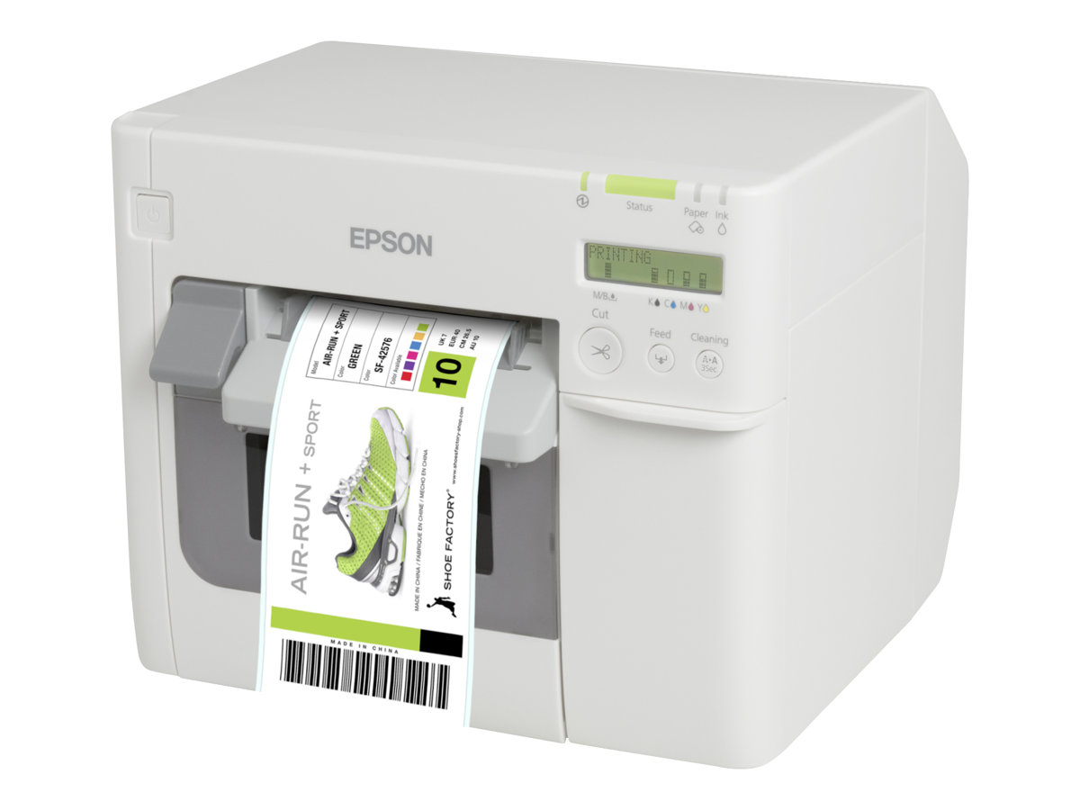 Epson ColorWorks C3500, Cutter, Disp., USB, Ethernet, NiceLabel, weiß, C31CD54012CD