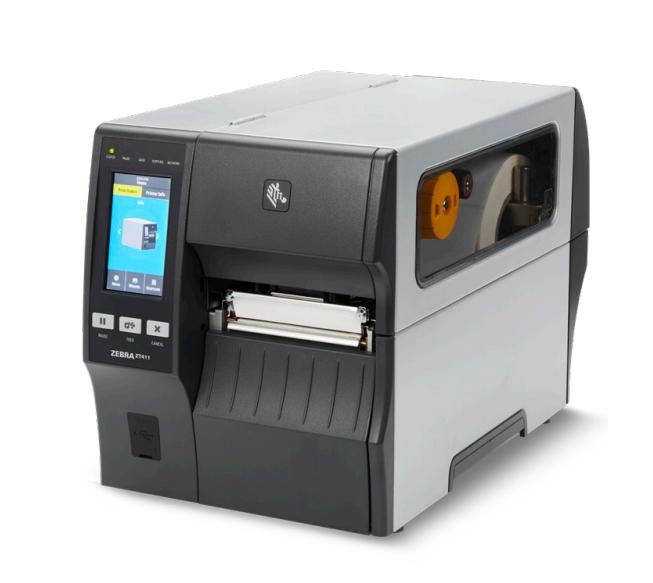 Zebra ZT411, 24 Punkte/mm (600dpi), Peeler, Rewinder, Disp. (Farbe), RTC, EPL, ZPL, ZPLII, USB, RS232, Ethernet, ZT41146-T4E0000Z