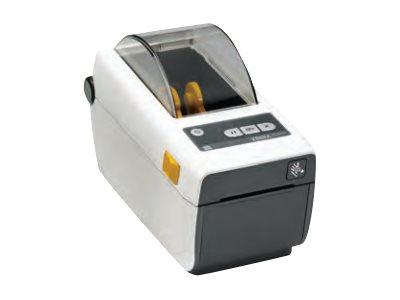 Zebra ZD410, 12 Punkte/mm (300dpi), VS, RTC, EPLII, ZPLII, USB, BT (BLE, 4.1), WLAN, weiß, ZD41H23-D0EW02EZ