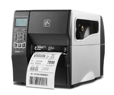 Zebra ZT230, 8 Punkte/mm (203dpi), Peeler, Display, EPL, ZPL, ZPLII, USB, RS232, Ethernet, ZT23042-T3E200FZ