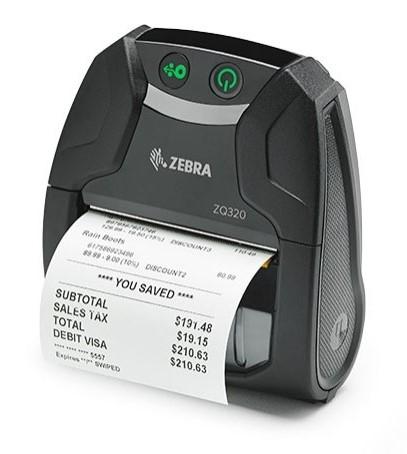 Zebra ZQ320 Outdoor, USB, BT, NFC, 8 Punkte/mm (203dpi), ZPL, CPCL, ZQ32-A0E02TE-00