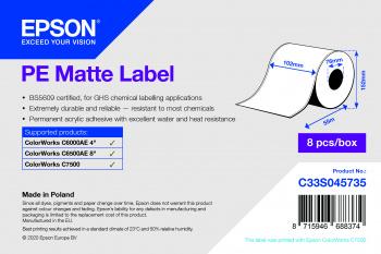 Epson Etikettenrolle, Kunststoff, 102mm, C33S045735