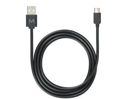 Mobilis 001278 - 1 m - USB A - USB C/Lightning - Schwarz