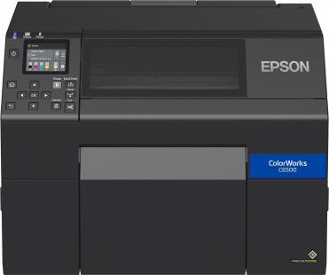 Epson ColorWorks CW-C6500Ae, Cutter, Disp., USB, Ethernet, schwarz, C31CH77102
