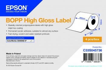 Epson Etikettenrolle, Kunststoff, C33S045736