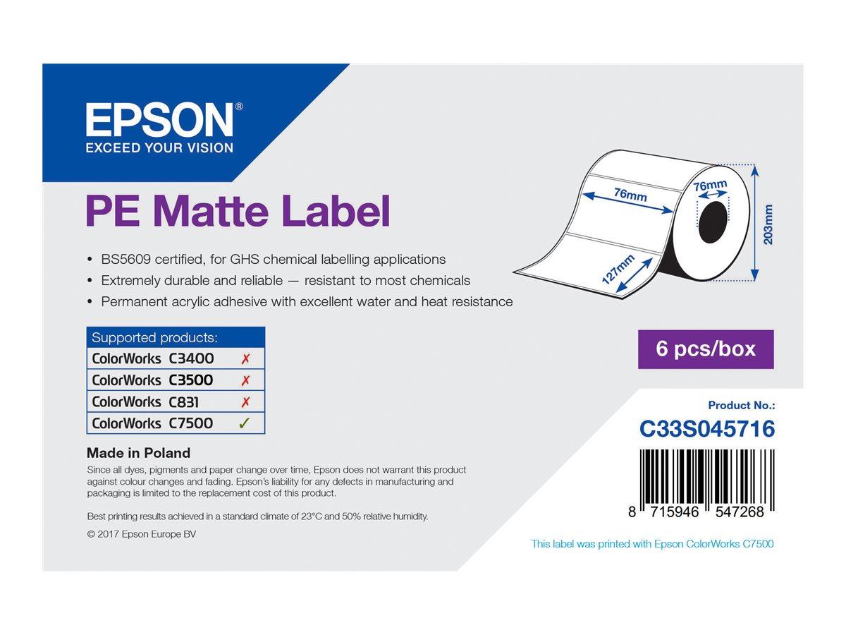 Epson Etikettenrolle, Kunststoff, 76x127mm, C33S045716