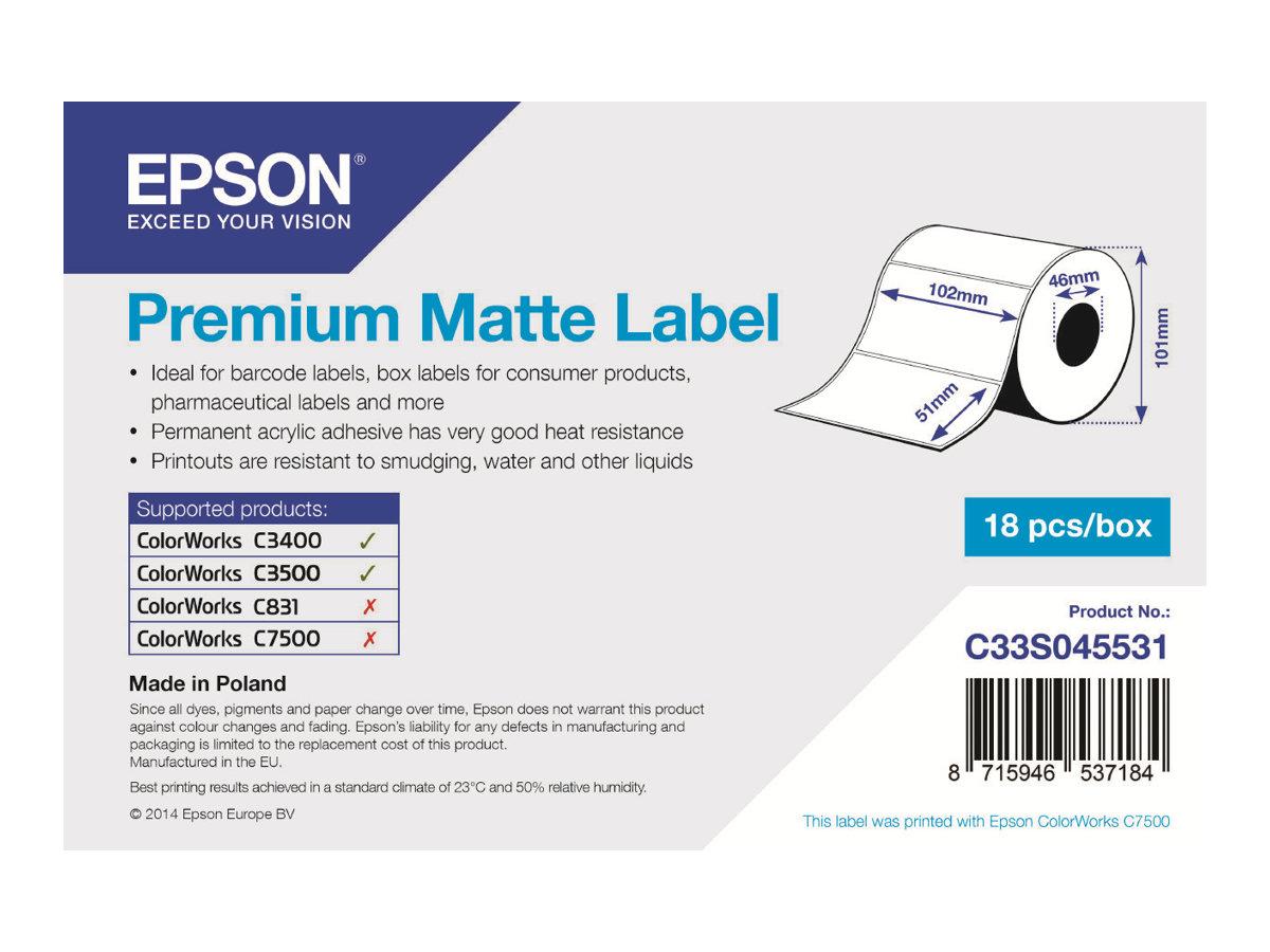 Epson Etikettenrolle, Normalpapier, 102x51mm, C33S045531