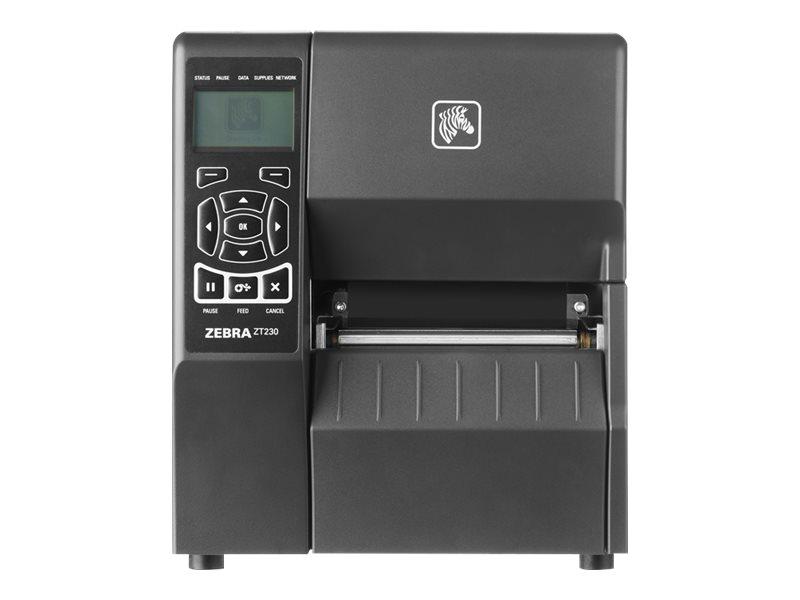 Zebra ZT230, 8 Punkte/mm (203dpi), Cutter, Display, EPL, ZPL, ZPLII, USB, RS232, Ethernet, ZT23042-D2E200FZ