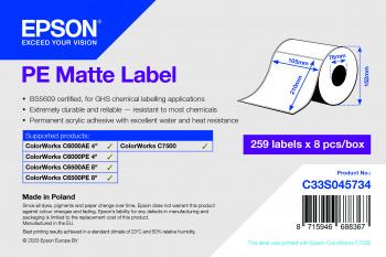 Epson Etikettenrolle, Kunststoff, 105x210mm, C33S045734